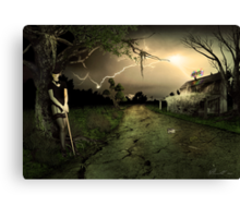 Side Road Motel Canvas Print