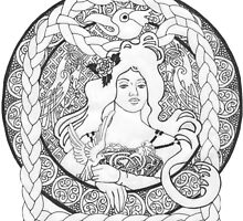 Celtic Birds & Braids by redqueenself