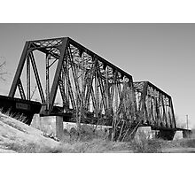 Sun River Bridge - Great Falls, Montana Photographic Print