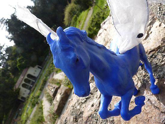 Blue Pegasus by SusanSanford