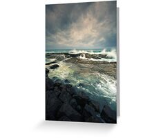 The day of the storm Greeting Card