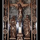 Jesus on The Cross - Confessional Door by Rose Santuci-Sofranko