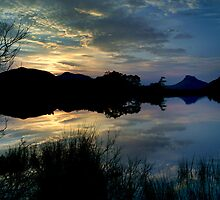 Sunset over Loch Cul Dromannan and Stac Pollaidh by John Ellis