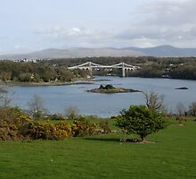 View over the Menai Straits, Anglesey North Wales by AnnDixon