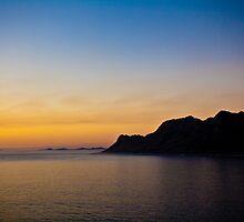 Sunset over Falsebay 1 by Gideon van Zyl