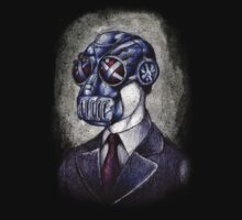 Gas Mask Man by beanarts