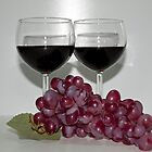 Red Wine &amp; Red Grapes by Sherry Hallemeier