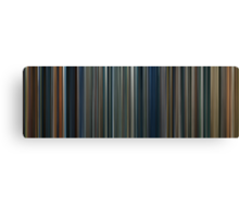 Moviebarcode: The Lord of the Rings Trilogy (2001-2003) Canvas Print
