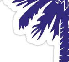 Purple Palmetto Moon Sticker
