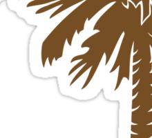Brown Palmetto Moon Sticker