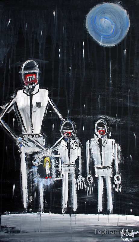 James and the Family, G., 2010, Acrylic on Paper, Justin Curfman by Tephramedia