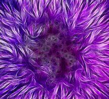 Purple Thistle Blossom 2 by DaveMoffatt
