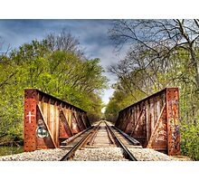 Rail Road Tracks Photographic Print