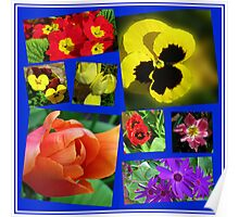 A Collage of Easter Flowers Poster