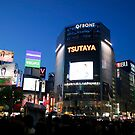 Shibya busy center in night time by snehit
