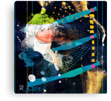 woman in space V2 - portrait of T.W. Canvas Print