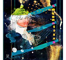 woman in space V2 - portrait of T.W. Photographic Print