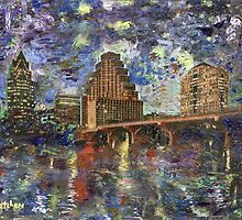 "GretchenArt ""Austin Starry Night""  by Gretchenart"