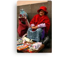 People 4051 Quito, Ecuador Canvas Print