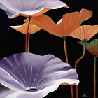 Lotus Leaves painting by ria hills