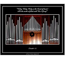 Organ Pipes ( With Isaiah 6:3 Bible Quote ) Photographic Print