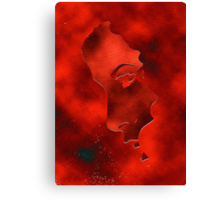 Portraet in red Canvas Print