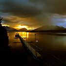 Lake Te Anau at sunset. South Island, New Zealand. (9) by Ralph de Zilva