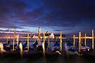 Gondollas in Venice by Sergey Martyushev