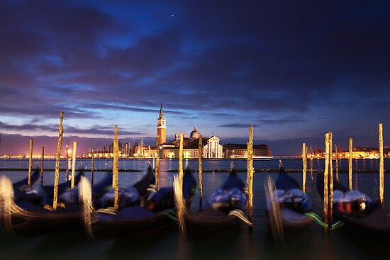 Gondollas in Venice by Sergey Martyushev