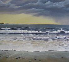 Last Wave at Spanish Point by April Jarocka