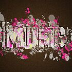 Music Graffiti Style In Magenta And Brown by Rewards4life