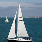 Sailing on the Solent near the Isle of Wight by David Wheeldon