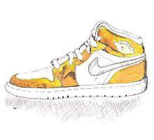 Gold Air Jordan 1 (MJ's 1992 Olympic Gold Medal Win) Photographic Print