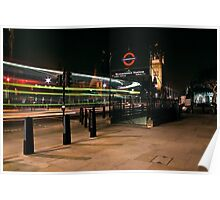 Westminister @ night Poster