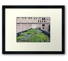 Tracks to Nowhere,High Line, New York City Framed Print