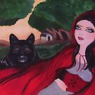 Gothic Red Riding Hood & The Black Wolf by Louise Griffiths