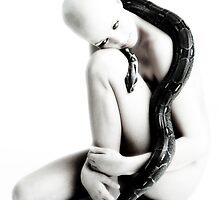 Nude girl with snake by henrikn