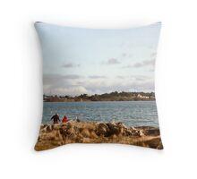 Day At The Beach - Esquimalt Lagoon BC Canada Throw Pillow