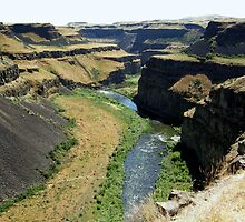 Palouse River Canyon - Palouse Falls State Park, Whitman County, WA by Rebel Kreklow