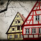 Houses along the romantic road (Germany) by Francesco Malpensi