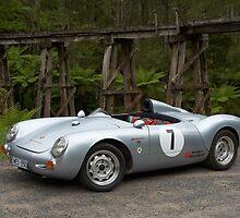 Silver Porsche Spyder Replica by John Jovic