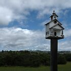 """BIRDHOUSE OF WORSHIP - Old Mission Style"" by waddleudo"