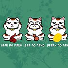 Three Wise and Lucky Neko by KMartinez