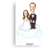 The Royal Wedding by Londons Times Cartoons Canvas Print