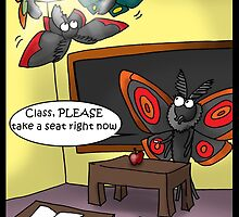 Moths In Classroom by Londons Times Cartooons by Rick  London
