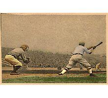 Vintage Style Baseball Memorabilia Photographic Print