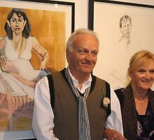 Malcolm Jones, artist - and guest at the Tap Gallery.. by Ozcloggie