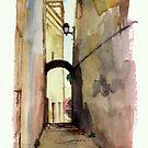 Un callejón en Genova by illapati