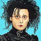 Johnny Depp as Edward Scissorhands by ManemannArt