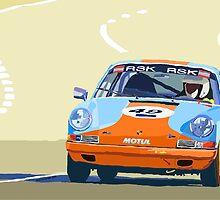 Porsche 911 S  classic Le Man  by Yuriy Shevchuk